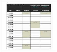 school schedule template college class schedule template template business