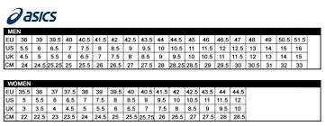 Asics Womens Size Chart 53 Off