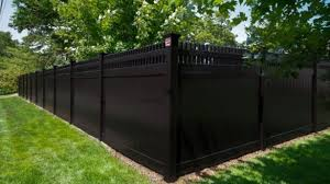 Black Vinyl Fencing Attractive Fence Privacy Pool Inside 18