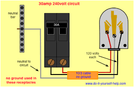 120 volt 4 outlets wire diagram circuit breaker wiring diagrams do it yourself help com wiring diagram 30 amp circuit breaker