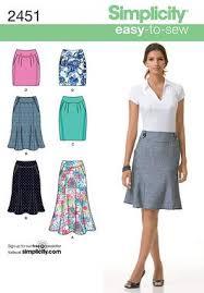 Skirt Patterns Beauteous Simplicity 48 Misses' Skirts