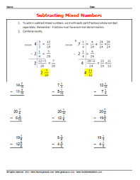 Adding And Subtracting Mixed Numbers Worksheets Tes | WorksheetSubtracting Mixed Number Fractions Worksheetsdirect. Adding Subtracting Mixed Numbers Worksheet ...