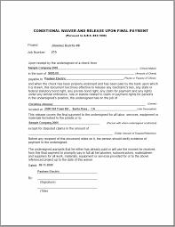 Lien Release Form Amazing Lien Release Form New Conditional Lien Waiver Form R Cf Allowed So
