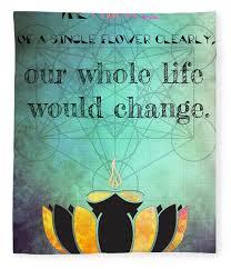Zen Art Inspirational Buddha Quotes Happiness Life Fleece Blanket
