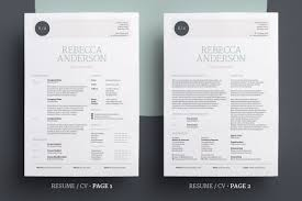 Elegant Resume/cv V1 By Bilmaw Creative On Creative Market | Resumes ...