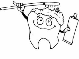 Small Picture Tooth Brushing Himself in Dental Health Coloring Page Color Luna