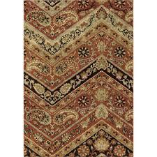 orian rugs chevron paisley multi 8 ft x 11 ft plush pile indoor area