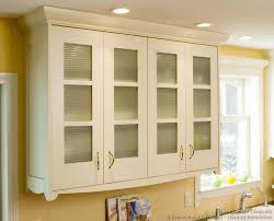 image of glass kitchen cabinet doors blur