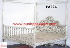 brass and metal furniture. See Through Carving Four Posted Bed Brass And Metal Furniture
