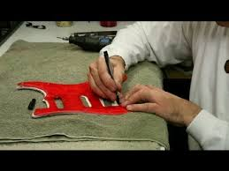 How to Cut a <b>Guitar's Pickguard</b> : <b>Guitar</b> Building & Repair - YouTube