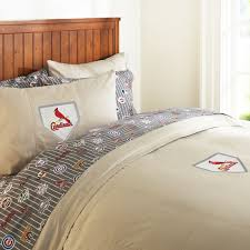 st louis cardinals duvet cover twin charcoal