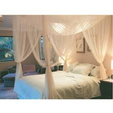US $15.11 19% OFF|White Three Door Princess Mosquito Net Double Bed Curtains Sleeping Curtain Bed Canopy Net Full Queen King Size Net26-in Mosquito ...