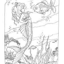 free coloring pages of mermaids. Modren Coloring Free Coloring Pages Mermaids Printable For For  Adults 2018 To Of S