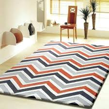 blue gray orange rug contemporary modern grey with orange indoor area rug 5 x 7 ft