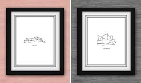 40 Awesome Gift Ideas For Architects And Interior Designers // Minimal art  prints of famous