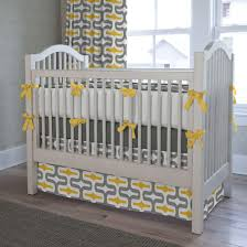 curtain nursery bedding and curtain sets cribs yellow gray palm
