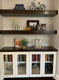 decorating glass front cabinets