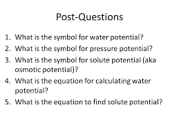 Water Potential Equation Diffusion Osmosis Water Potential Ppt Video Online Download
