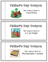 Free Print Coupons Printable Fathers Day Coupon Book All Kids Network