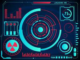 Digital Charts Or Radar User Interface And Graph Hologram