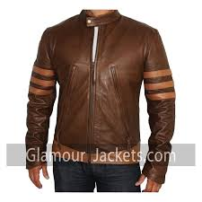 x men hugh jackman origins wolverine leather jacket