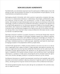 Simple Non Disclosure Agreement Form 13 Free Word Pdf Documents