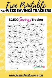 Save Money In A Year Chart 7 Free 52 Week Money Saving Challenge Printables Hassle