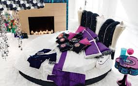 Small Bedroom For Teenage Girls Purple Floral Bed Cover Idea Teenage Girl Bedroom Ideas For Small