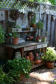 outdoor potting place we need a space like this ellis barker find this pin and more on small space gardening