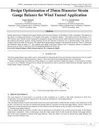 Wind Tunnel Balance Design Design Optimization Of 25mm Diameter Strain Gauge Balance