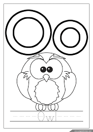 We design them and print them to color on video! Letter O Worksheets Flash Cards Coloring Pages