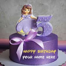 Cinderella Princess Birthday Cake With Name For Kid