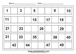 Kindergarten Numbers Worksheets Free Printable Number Activity ...