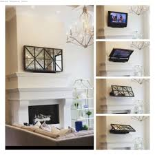 showing the flip around tv mount with optional low profile picture frame tv
