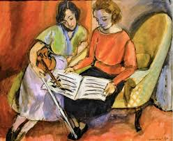 henri matisse the lesson two women seated on a divan 1921 at baltimore museum of art baltimore md