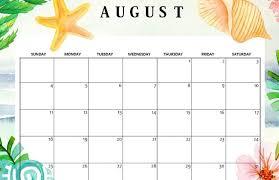 August Calandar Cute August 2019 Calendar Free Printable Calendar Shop