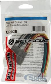 scosche cr02b wire harness for select 2002 2008 chrysler jeep vehicles Scosche Wiring Harness for Ford at Dodge Scosche Wiring Harness