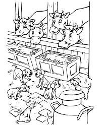 Puppies In De Stal Kleurplaat Jouwkleurplaten