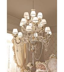 927 18 s fanfani andrea chandelier with crystals and pearls the chandelier is made of high quality white and gold finish the cascades of pearls and