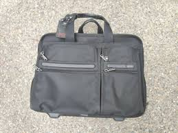 tumi 96003d4 wheeled rolling leather expandable briefcase laptop carryon bag for