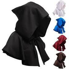 <b>Adults Hooded Cloak Gothic</b> Devil Cape Costume Medieval Witch ...