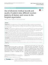 Electronic Medical Charts Make It Easier For Doctors To Pdf Use Of Electronic Medical Records And Quality Of