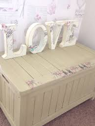 floral decoupage furniture. Annie Sloan Chalk Paint With Floral Decoupage Features. Solid Blanket Box / Toy Www Furniture