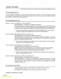 Nurse Resume Template Beautiful Nursing Resume Example Best Resume