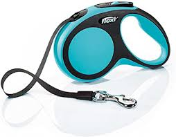 <b>flexi New Comfort</b> Small Retractable Dog Leash <b>Tape</b> 16'/5m, Blue ...
