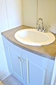 Refinish Bathroom Countertop Refinished Concrete Vanity Top