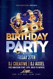 Part Flyer Birthday Party Flyer Psd Templates Creative Flyers