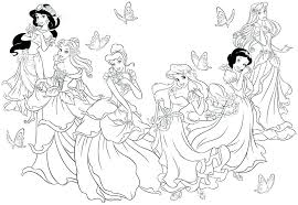 Printable Disney Princess Fantastic Princess Free Printable Coloring