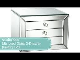 studio 55d mirrored glass 3 drawer