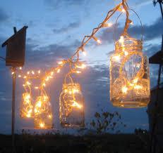 backyard outdoor lighting ideas with diy mason jar candle holder lantern lighting ideas with hanging rope